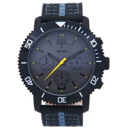 Zoo York  Men Black/Gray Leather Strap Watch ZY-1740-Blk image here