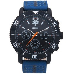 Zoo York  Men Blue/Gray Leather Strap Watch ZY-1740-Blu image here
