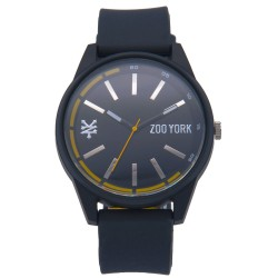 Zoo York  Men Black Rubber Strap Watch ZY-1737-Blk image here