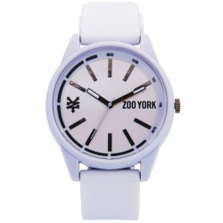 Zoo York  Men White Rubber Strap Watch ZY-1737-Wht image here