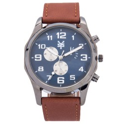 Zoo York  Men Brown Leather Strap Watch ZY-1744-Tan image here