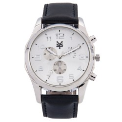 Zoo York  Men Black Leather Strap Watch ZY-1744-Sil image here