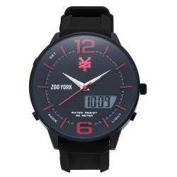 Zoo York  Men Black Stainless Steel Strap Watch ZY-1751-Blk image here