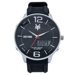 Zoo York  Men Black Stainless Steel Strap Watch ZY-1751-Sil image here