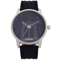 Zoo York  Men Black Rubber Strap Watch ZY-1741-Sil image here