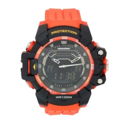 Mossimo Waldon Unisex Orange Rubber Strap Ana-Digi Watch MS-1701G-ORG   image here