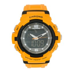 Mossimo Dominic Unisex Orange Rubber Strap Digital Watch MS-1704G-YLW  image here