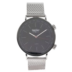 Mossimo Carl Unisex Silver Metal Strap Analog Watch MS-1706G-IPSBLK   image here
