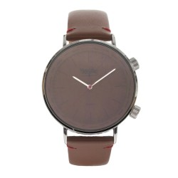 Mossimo Carl Unisex Brown Leather Strap Analog Watch MS-1706G-IPSBRN  image here
