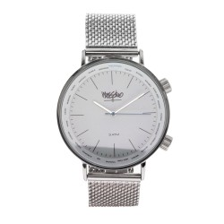 Mossimo Carl Unisex Silver Metal Strap Analog Watch MS-1706G-IPSWHT image here