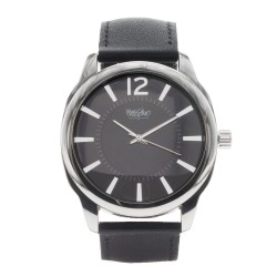 Mossimo Kelvin Unisex Black Leather Strap Analog Watch MS-1707G-IPSBLK  image here