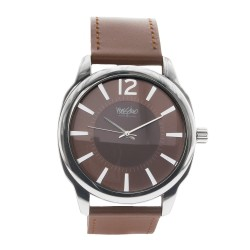 Mossimo Kelvin Unisex Brown Leather Strap Analog Watch MS-1707G-IPSBRN image here