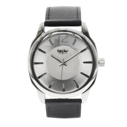 Mossimo Kelvin Unisex Black Leather Strap Analog Watch MS-1707G-IPSWHT  image here
