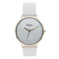 Mossimo Charles Unisex White Silicone Strap Analog Watch MS-1708G-IPGWHT image here