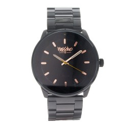 Mossimo Kramer Unisex Black Stainless Steel Strap Analog Watch MS-1721G-IPBBRN  image here