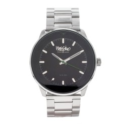 Mossimo Kramer Unisex Silver Stainless Steel Strap Analog Watch MS-1721G-SSBLK   image here