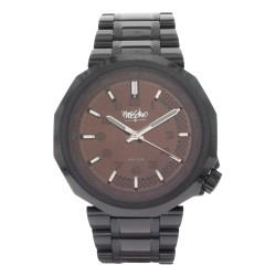 Mossimo Frank Unisex Black Stainless Steel Strap Analog Watch MS-1722G-IPBBLK image here