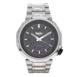 Mossimo Frank Unisex Silver Stainless Steel Strap Analog Watch MS-1722G-SSWHT image here