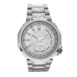 Mossimo Frank Unisex Silver Stainless Steel Strap Analog Watch MS-1722G-SSBLK image here