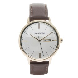 Mossimo Dean Unisex Brown Leather Strap Analog Watch MS-1723G-IPGBRN image here