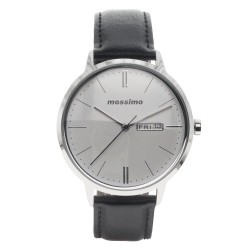 Mossimo Dean Unisex Black Leather Strap Analog Watch MS-1723G-IPSBLK  image here