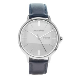 Mossimo Dean Unisex Blue Leather Strap Analog Watch MS-1723G-IPSBLU image here