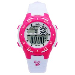 BARBIE Women White Rubber Strap Sporty Digital Watch BBMR-201L-A image here