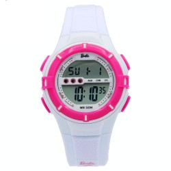 BARBIE Women White Rubber Strap Sporty Digital Watch BBMR-205L-C image here