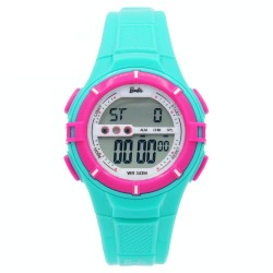 BARBIE Women Turquoise Rubber Strap Sporty Digital Watch BBMR-205L-E image here