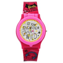 Barbie Mix and Match Cover Girls Pink Plastic Strap Watch BBRJ15-18 image here