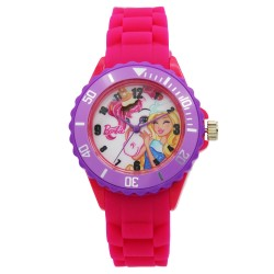 Barbie Girls Fuchsia Rubber Strap Analog Casual Watch BBSISS18103 image here