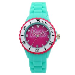 Barbie Girls Turqouise Rubber Strap Analog Casual Watch BBSISS18105 image here