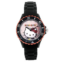 Hello Kitty Girls Black Silicon Strap Watch HKI-SS17-101 image here