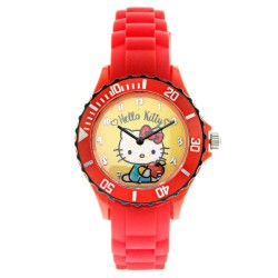 Hello Kitty Girls Red Silicon Strap Watch HKI-SS17-102 image here