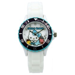 Hello Kitty Girls White Silicon Strap Watch HKI-SS17-103 image here