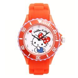 Hello Kitty Girls Orange Silicon Strap Watch HKI-FW-101 image here