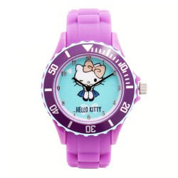Hello Kitty Girls Purple Silicon Strap Watch HKI-FW-103 image here