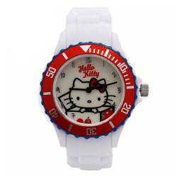 Hello Kitty Girls White Silicon Strap Watch HKI-FW-104 image here
