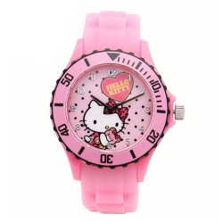 Hello Kitty Girls Pink Silicon Strap Watch HKI-FW-105 image here