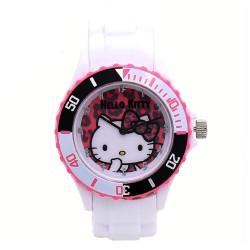 Hello Kitty Girls White Silicon Strap Watch HKI-FW-106 image here
