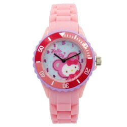 Hello Kitty Girls Pink Rubber Strap Analog Casual Watch HKSS18001 image here