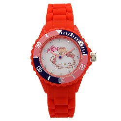 Hello Kitty Girls Red Rubber Strap Analog Casual Watch HKSS18003 image here