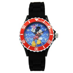Disney Mickey Mouse & Friends  Black Silicone Strap Analog Watch DISNEY-MICKEY-101C image here