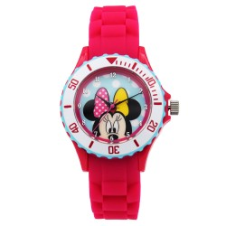 Disney Mickey Mouse and Friends  Fuschia Silicone Strap Analog Watch DISNEY-MINNIE-101C image here