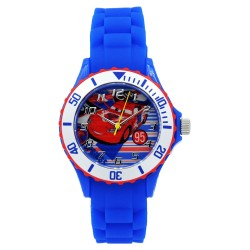 Disney Pixar Cars  Blue Silicone Strap Analog Watch DISNEY-CARS-102C image here