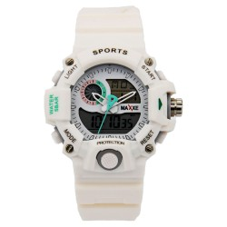 MAXXE Unisex White Rubber Strap Watch MXMR-208AD-1 image here