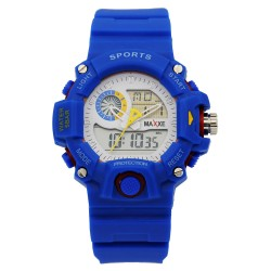 MAXXE Unisex Royal Blue Rubber Strap Watch MXMR-208AD-2 image here