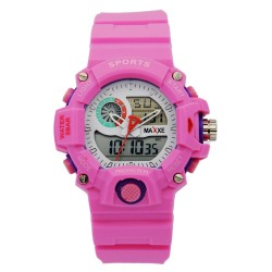 MAXXE Unisex Pink Rubber Strap Watch MXMR-208AD-4 image here