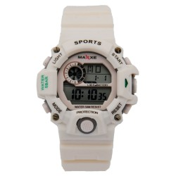 MAXXE Unisex White Rubber Strap Watch MXMR-208L-1 image here