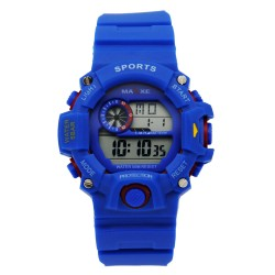 MAXXE Unisex Royal Blue Rubber Strap Watch MXMR-208L-3 image here
